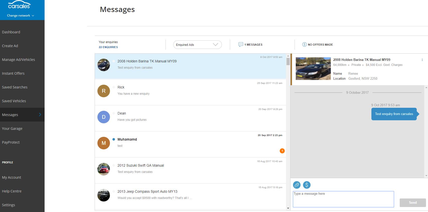 How Do I View Or Reply To Messages Carsales Com Au Help Center